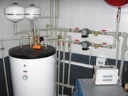 Установка отопительных котлов,  монтаж систем отопления